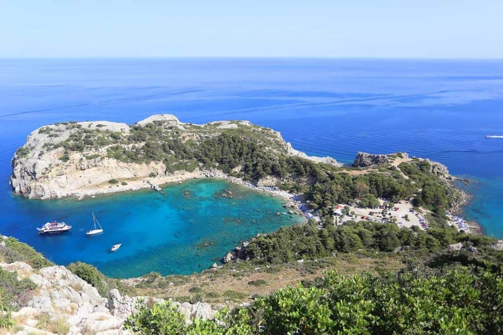 Anthony Quinn Bay Best Beaches on Rhodes Greece