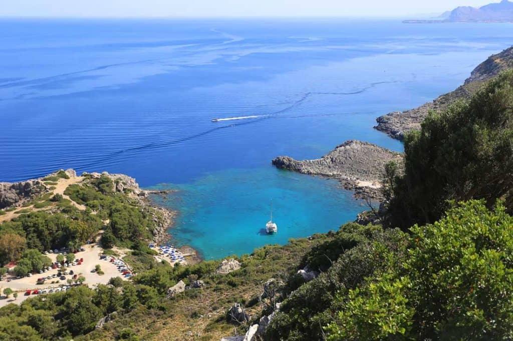 Ladiko Bay Best Beaches on Rhodes Greece