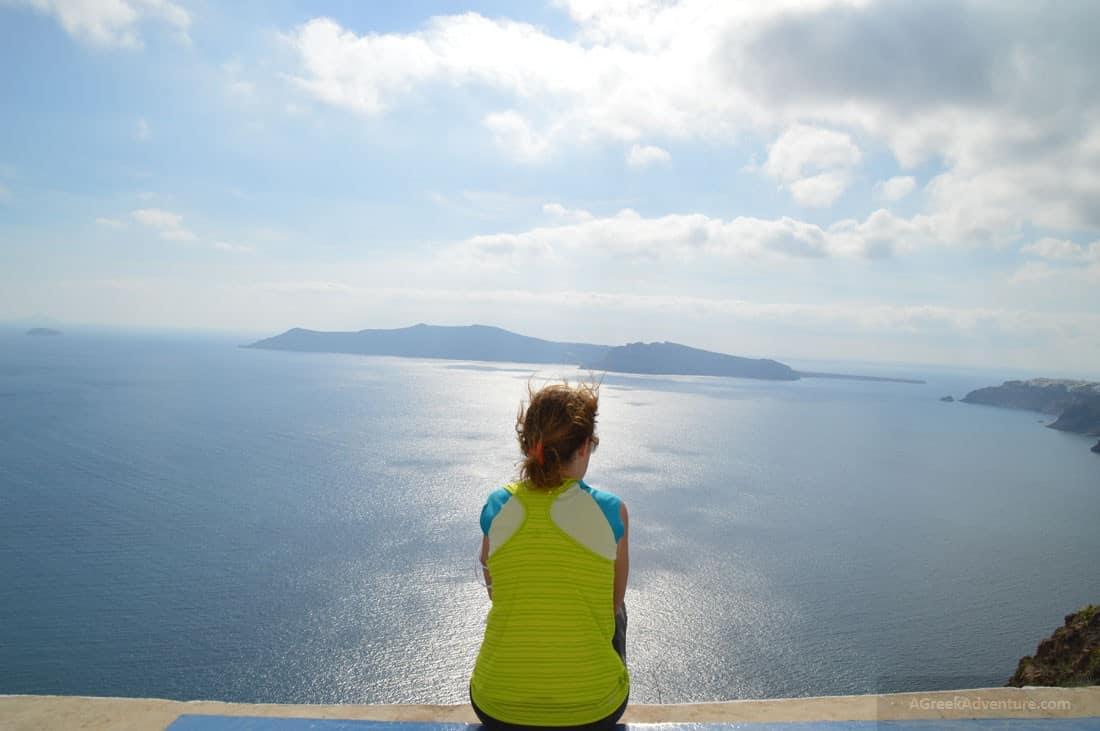Santorini Caldera View - Mykonos to Santorini