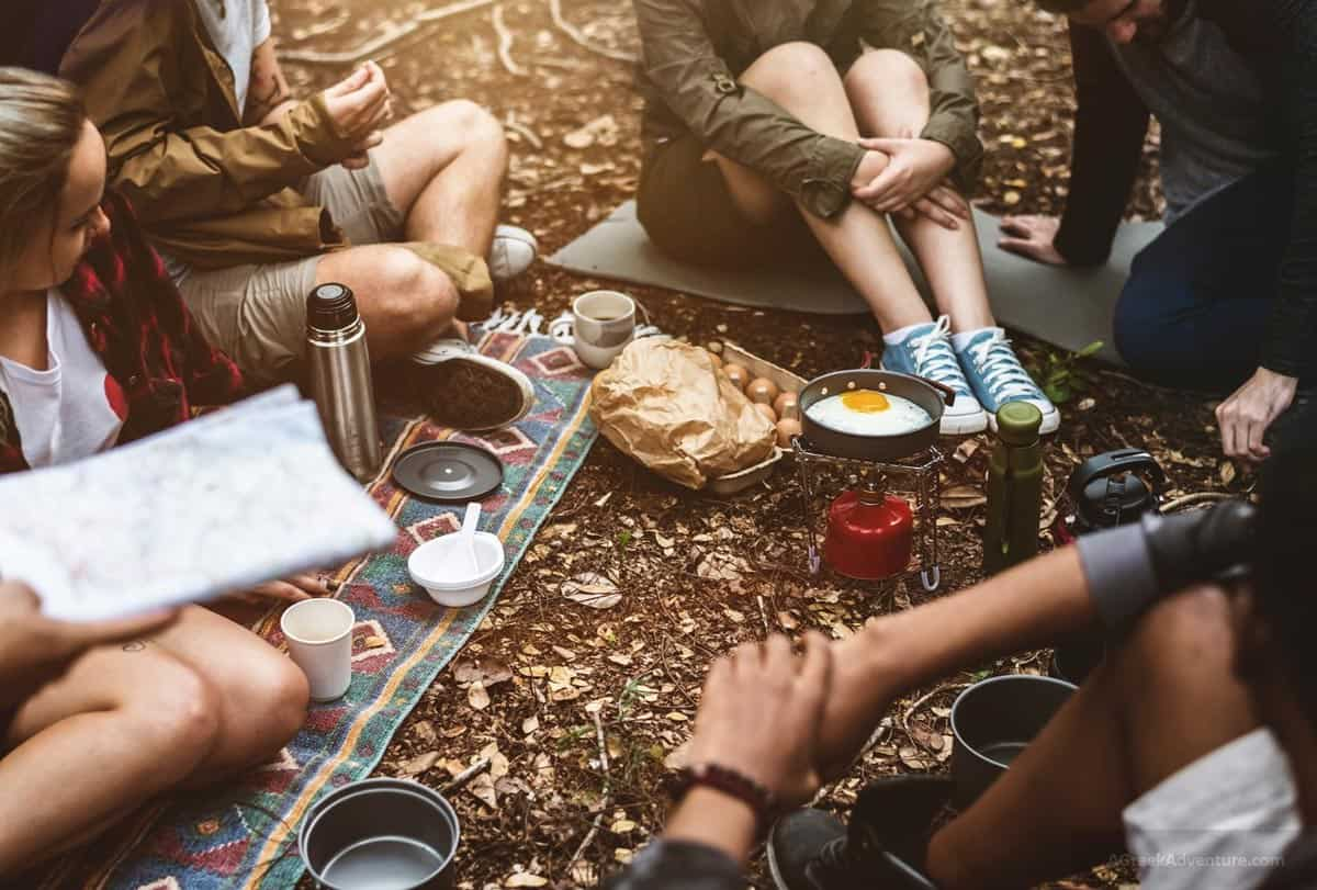 Image result for Prepare the food Camping