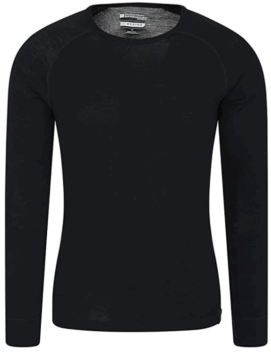 Best Base Layers for Extreme Cold Weather, Mountain Warehouse Merino Mens Baselayer Top
