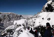 Mount Parnassus Greece Snow Trekking