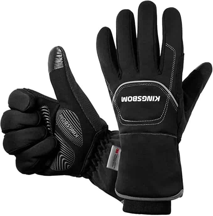 Best Hiking Gloves, KINGSBOM -40F° Waterproof & Windproof Thermal Gloves
