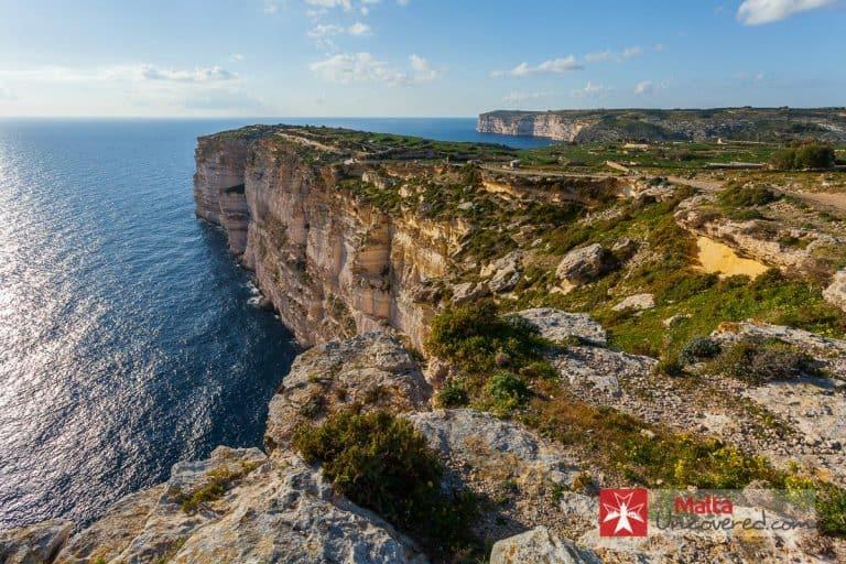Sannat Cliffs in Gozo