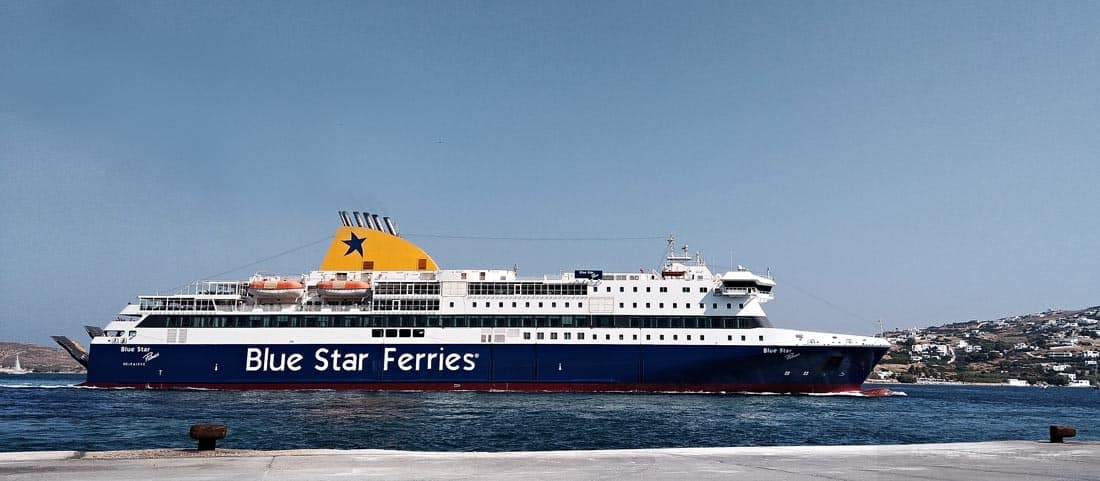 A Blue Star Ferries ship