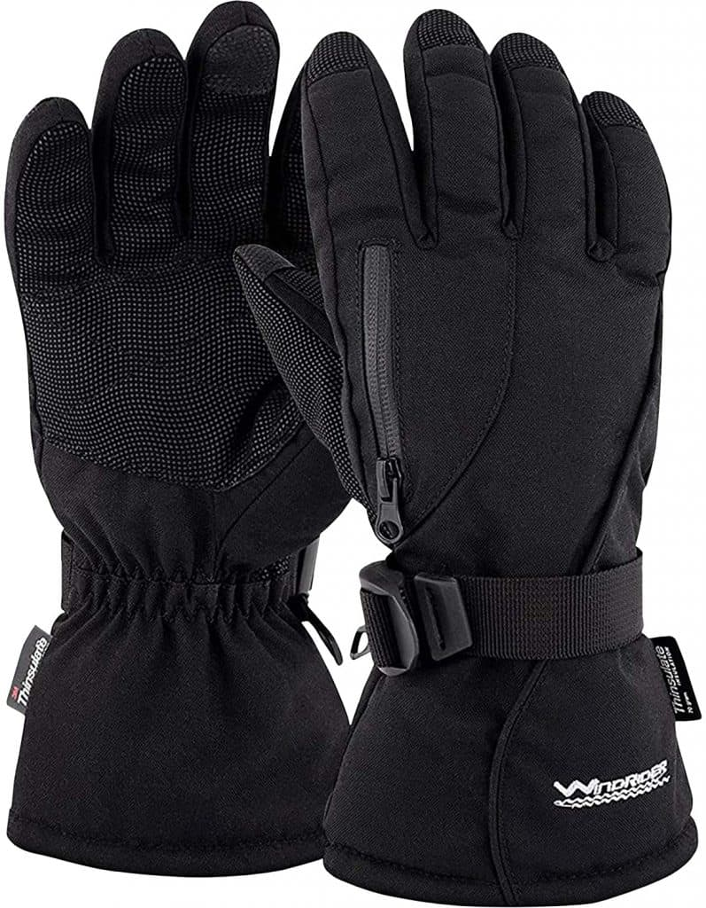 Best Hiking Gloves, WindRider Rugged Waterproof Winter Gloves