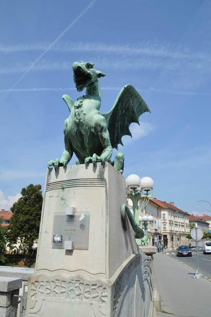 Ljubljana Slovenia Dragon Bridge