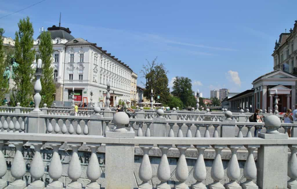 The Triple Bridge of Ljubljana Slovenia