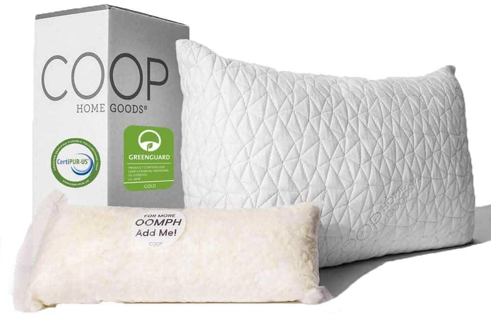 Adjustable Loft Pillow - Hypoallergenic Cross-Cut Memory Foam Fill - Lulltra Washable Cover