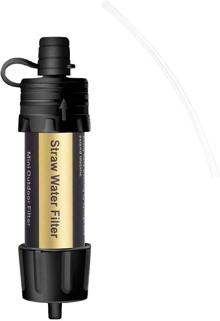 Purewell Portable Water Filter Straw 0.01 Micron