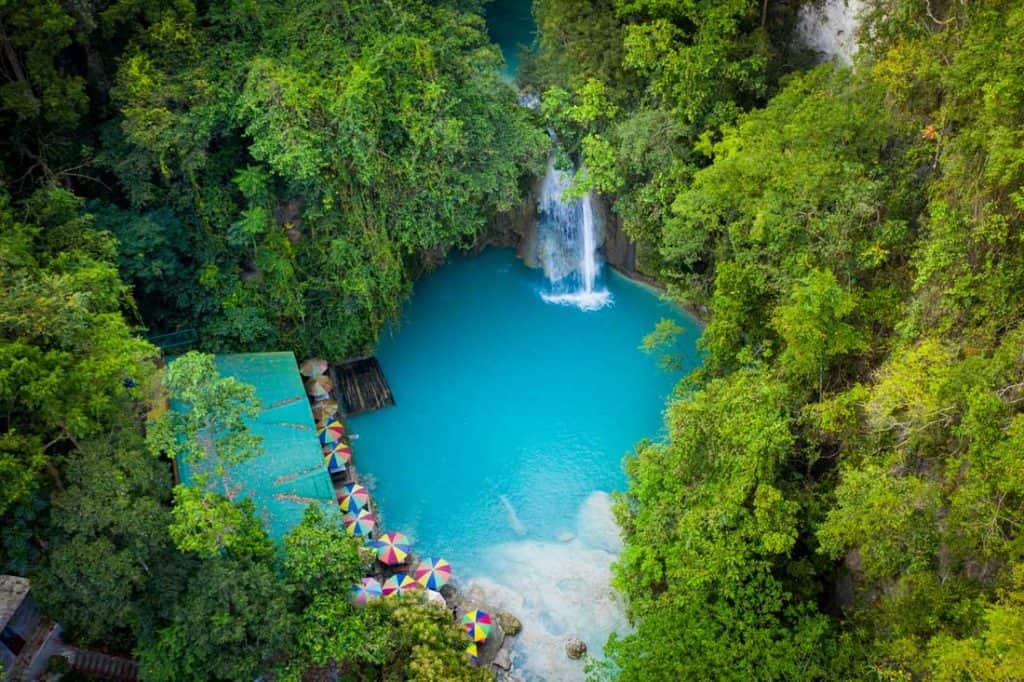 Kawasan falls in Cebu Best Islands in the Philippines