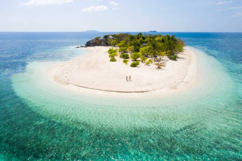Tropical beach in Coron Best Islands in the Philippines