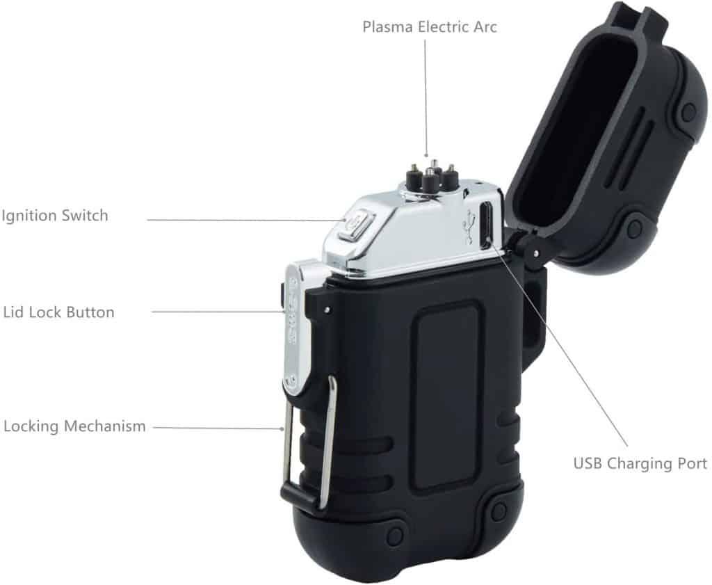 Waterproof Lighter Plasma Windproof