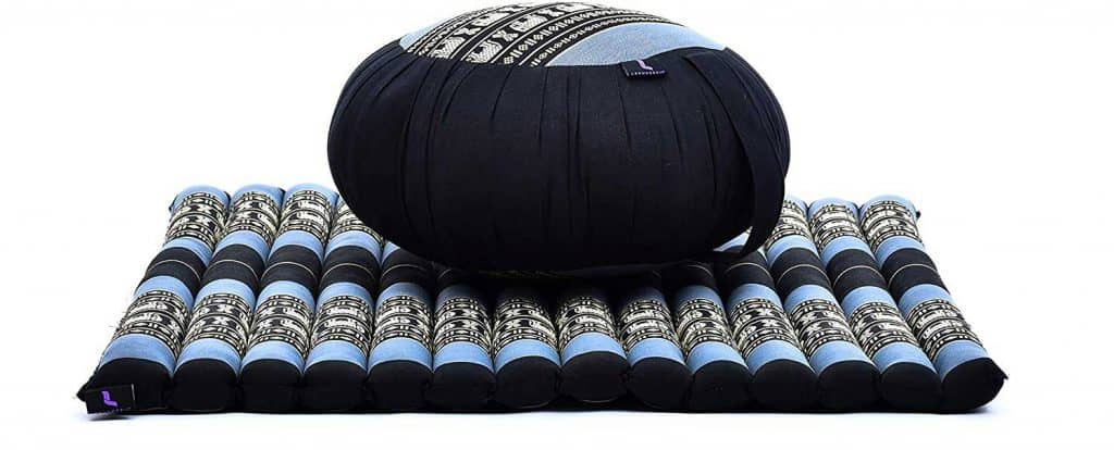 Round Zafu Pillow and Large Square Zabuton Meditation Mat for Floor Seating Eco-Friendly Organic and Natural