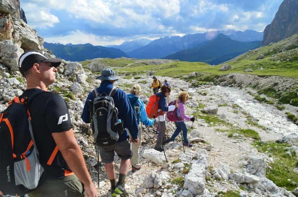 Piz Boe Capana Fassa Hiking Route