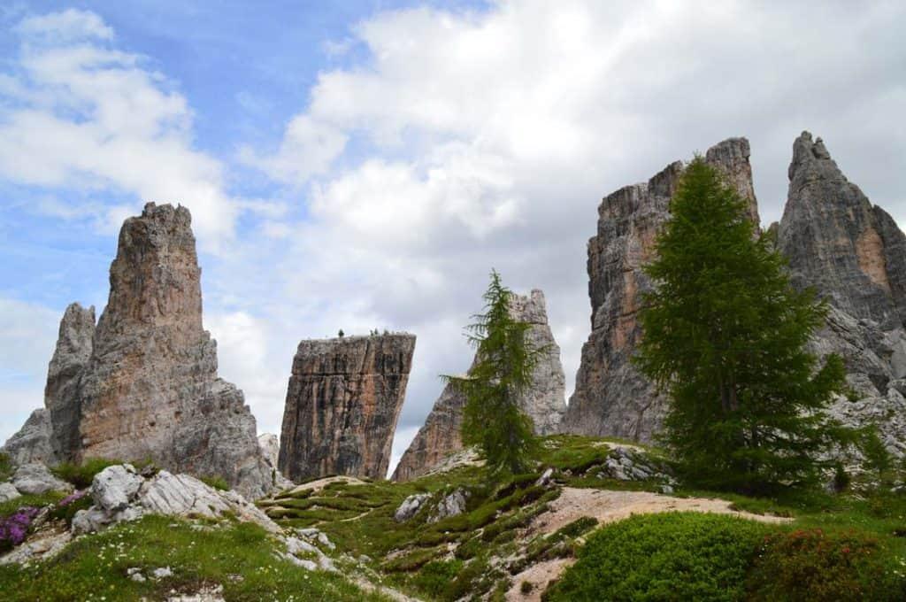 Cinque Torri rocky formations
