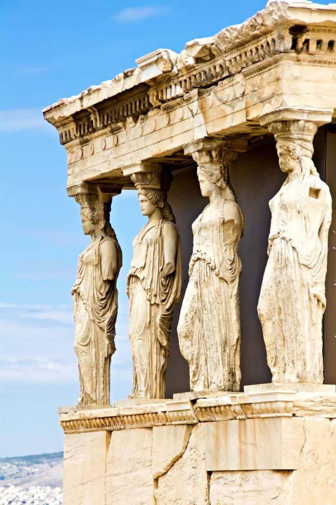 erechteion karyatis acropolis of athens
