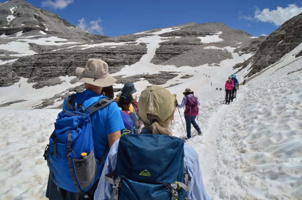 Piz Boè towards mountain top