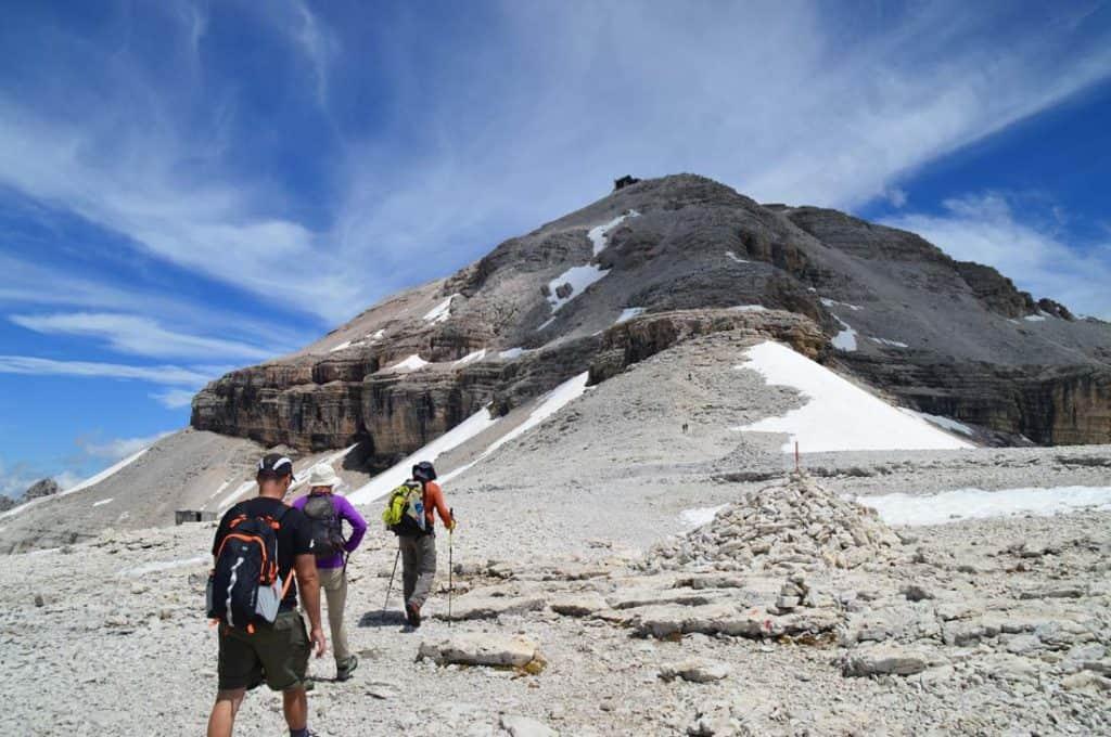 Piz Boè mountain top